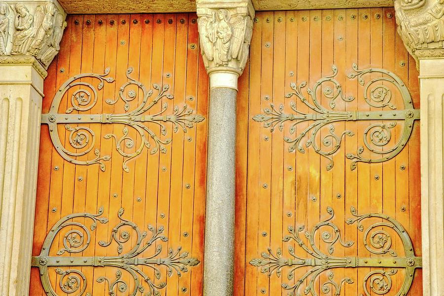France Photograph - Doorway Detail at St. Tropheme Church in Arles by Kirsten Giving