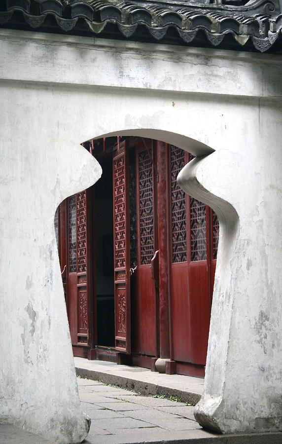 China Photograph - Doorway by Erika Lesnjak-Wenzel