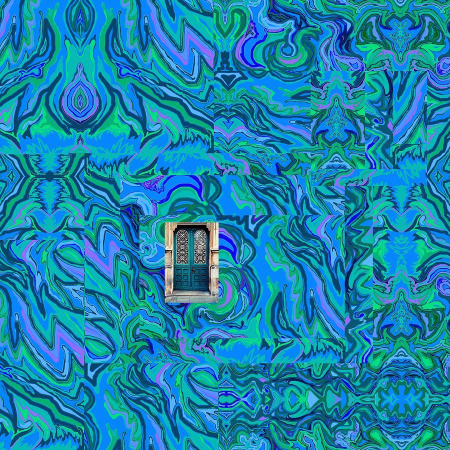 Water Digital Art - Doorway Into Multi-layers Of Water Art Collage by Julia Woodman