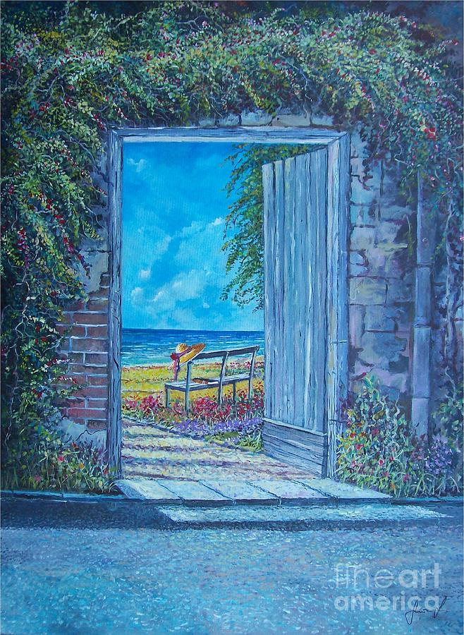 Mediterranean Painting - Doorway To ... by Sinisa Saratlic