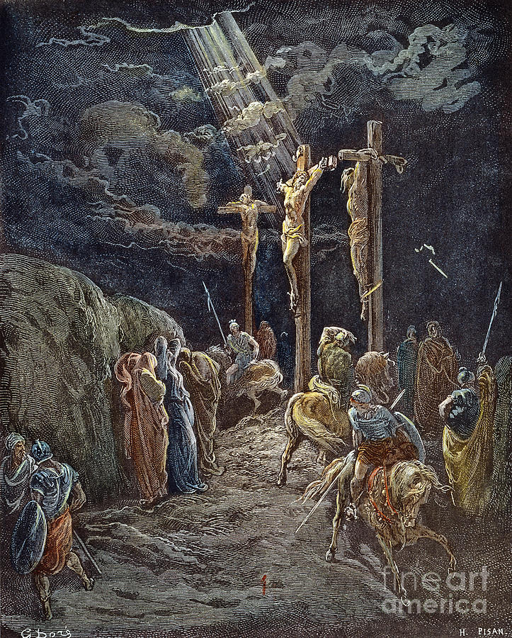 19th Century Drawing - Crucifixion by Gustave Dore