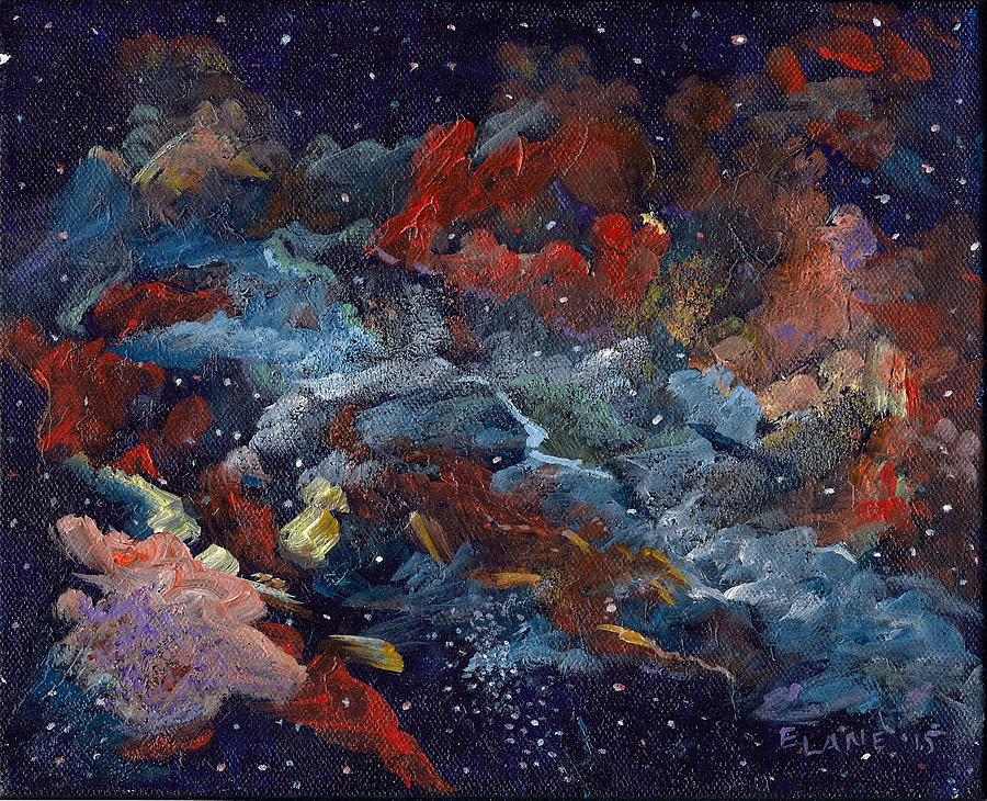 Outer Space Painting - Doradus by Elizabeth Lane
