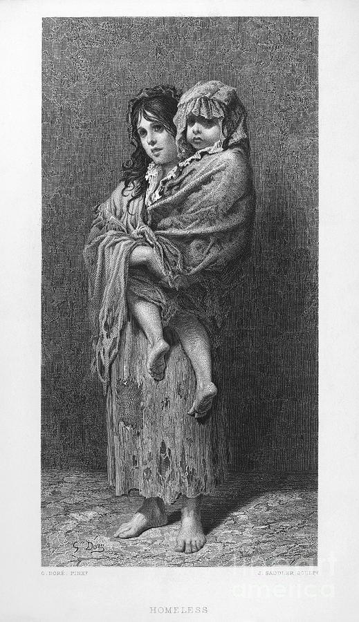 1869 Photograph - Dore: Homeless, C1869 by Granger