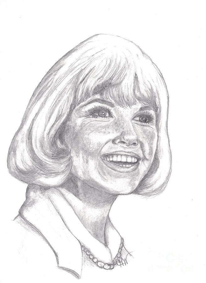 Celebrity Drawing - Doris Day  by Carol Wisniewski