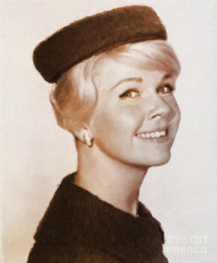 Doris Day, Hollywood Legend Painting