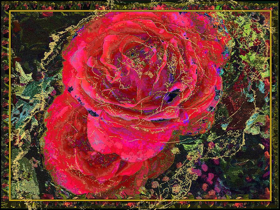 Roses Painting - Dornroeschen by Anne Weirich