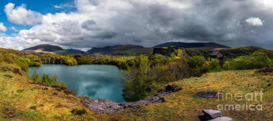 Landscape Photograph - Dorothea Quarry Panorama by Adrian Evans