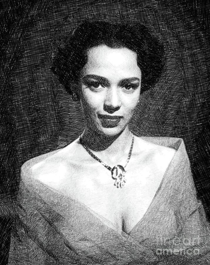 Dorothy Dandridge, Actress, Dancer, Singer By Js Drawing