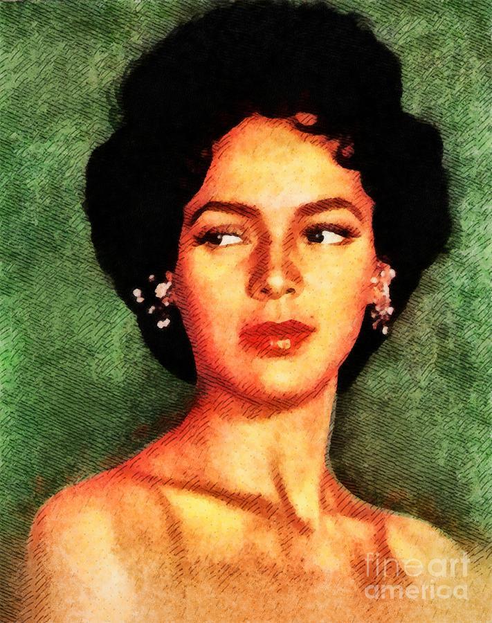 Hollywood Painting - Dorothy Dandridge, Vintage Hollywood Legend by John Springfield