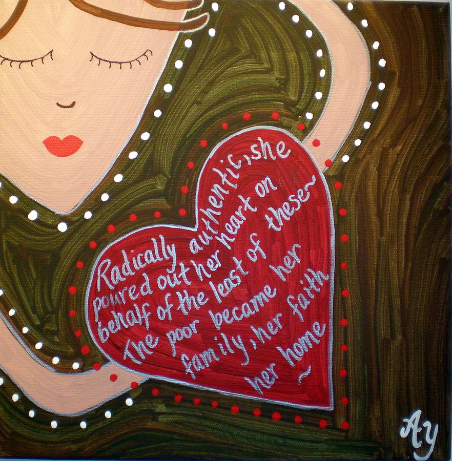 Holy Painting - Dorothy Day by Angela Yarber