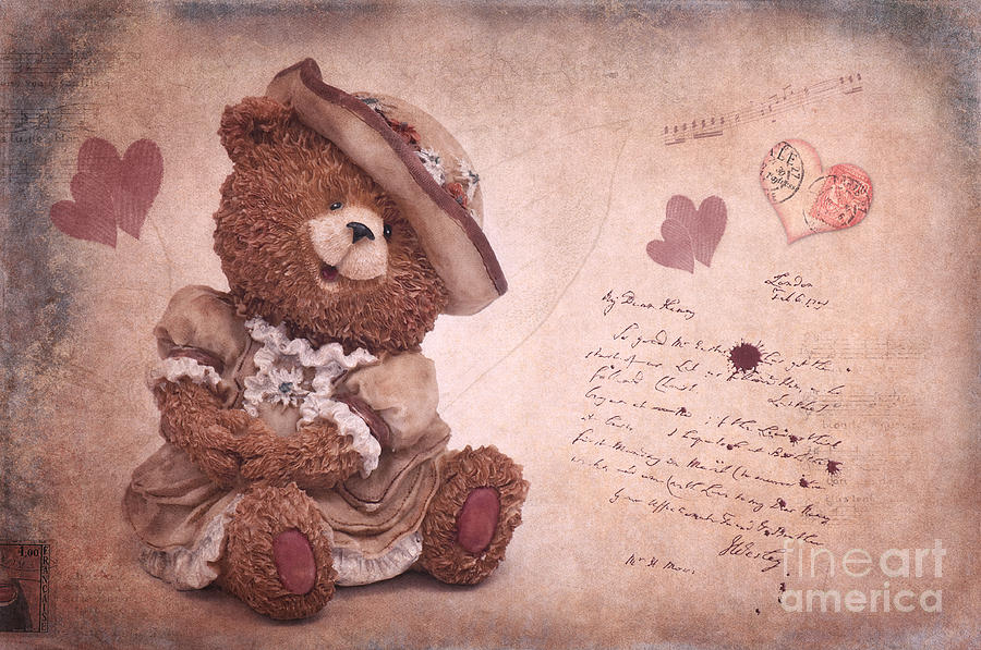 Bear Photograph - Dorothy In Love by Angela Doelling AD DESIGN Photo and PhotoArt