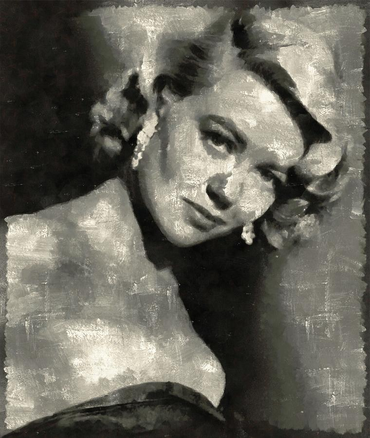 Dorothy Painting - Dorothy Malone Vintage Hollywood Actress by Mary Bassett