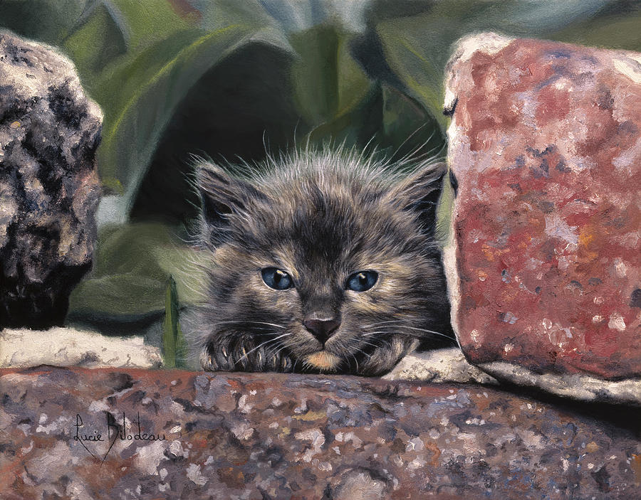 Cat Painting - Dorothy Parker by Lucie Bilodeau