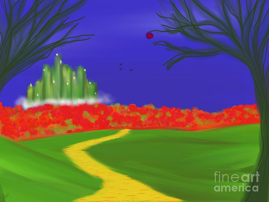 Wizard Of Oz Painting - Dorothys Dream by Roxy Riou