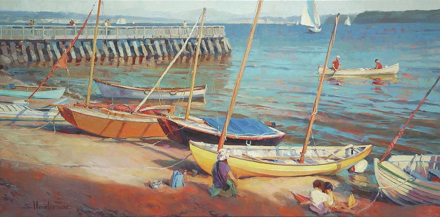 Dory Beach Painting