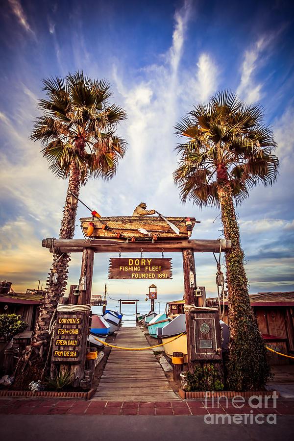 America Photograph - Dory Fishing Fleet Market Picture Newport Beach by Paul Velgos