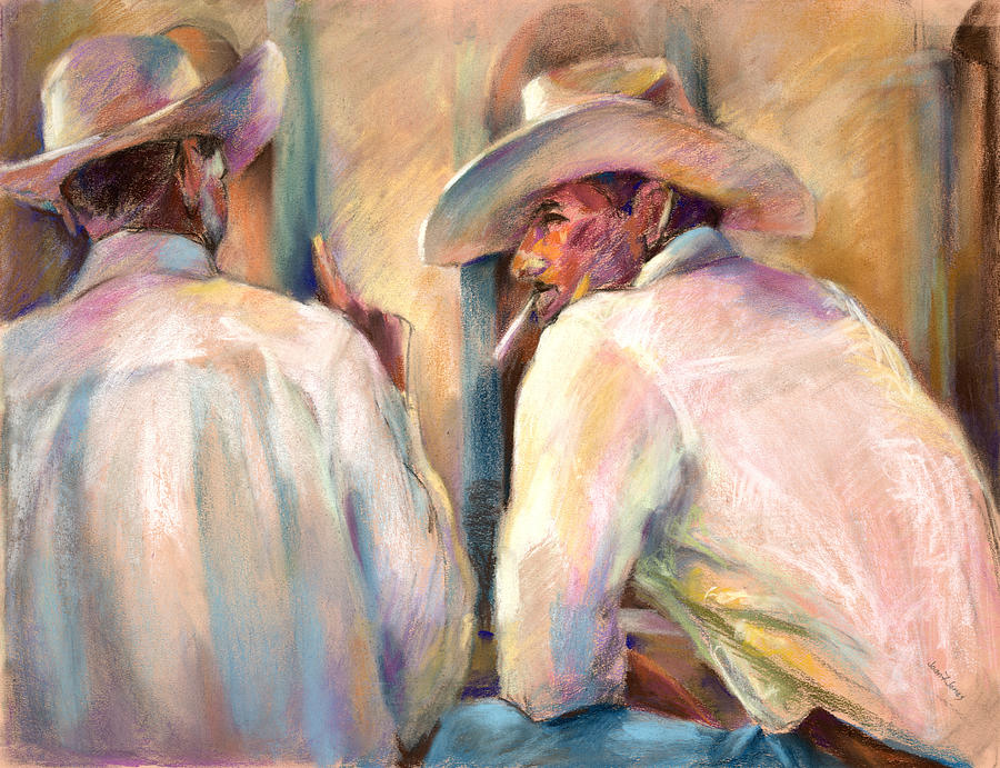 Alamos Pastel - Dos Amigos by Joan  Jones
