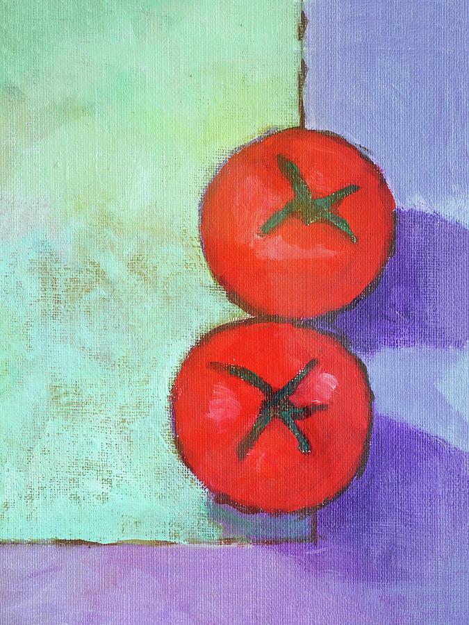 Frutas Painting - Dos Tomates by Arte Costa Blanca