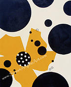 Paintings Painting - Dot Yellow by Susan-Angelo  DeBay