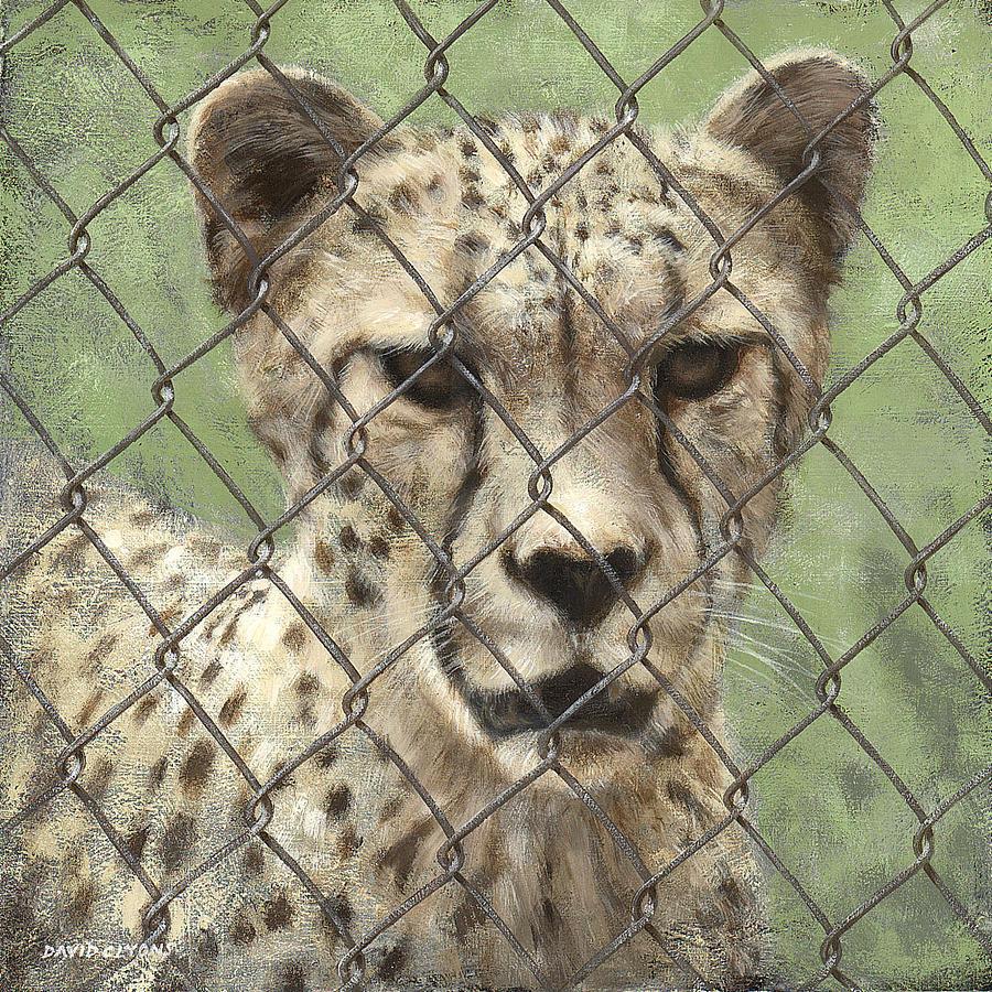 Cheetah Painting - Dots And Diamonds by David Lyons