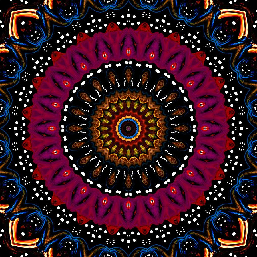 Digital Digital Art - Dotted Wishes No. 5 Kaleidoscope by Joy McKenzie