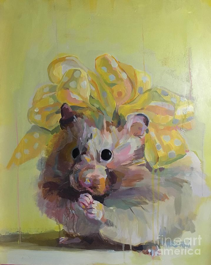 Ribbon Painting - Dottie by Kimberly Santini