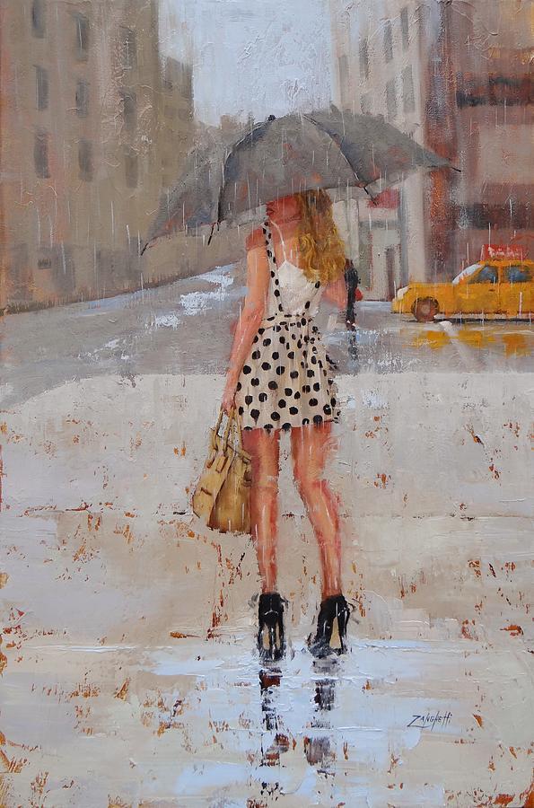 Rain Painting - Dottie by Laura Lee Zanghetti