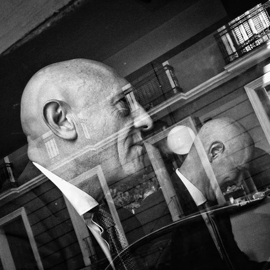 Bald Photograph - Doubald  #bald #head #men #people by Rafa Rivas