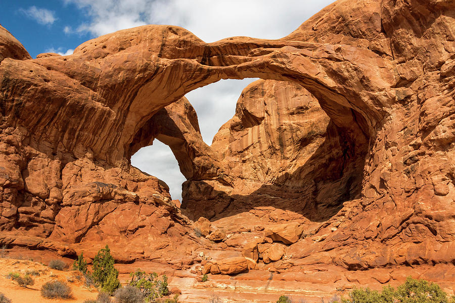 Double Arch Arches National Park Utah Photograph By