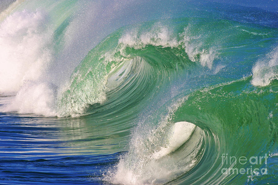 Ocean Photograph - Double Barrel by Paul Topp