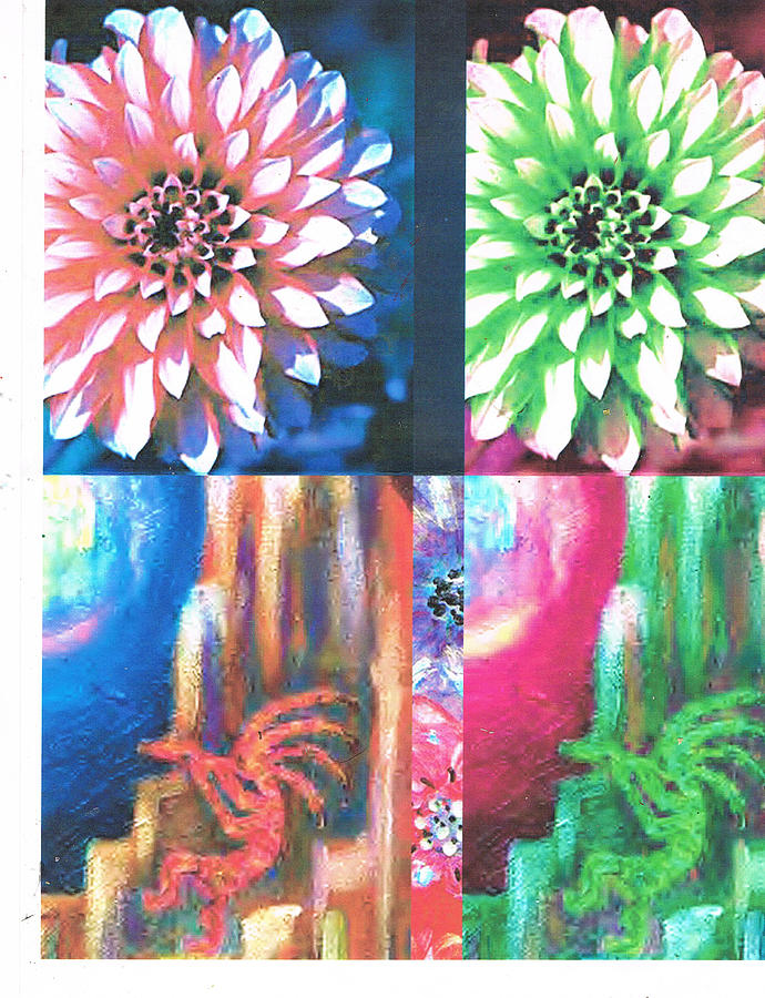 Flowers Photograph - Double Color Visions by Anne-Elizabeth Whiteway
