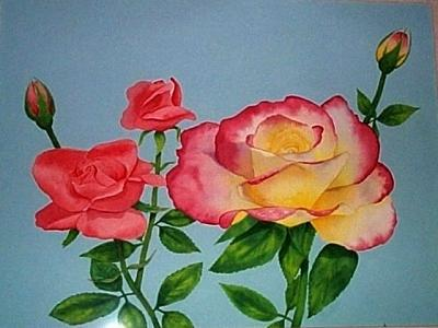 Roses Painting - Double Delight by Robin MacKenzie