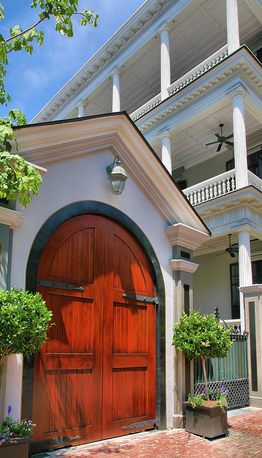 Architecture Photograph - Double Door And Historic Home by Steven Ainsworth