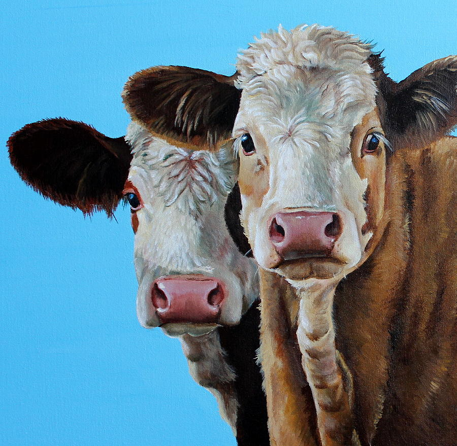 Simmental Painting - Double Dutch by Laura Carey