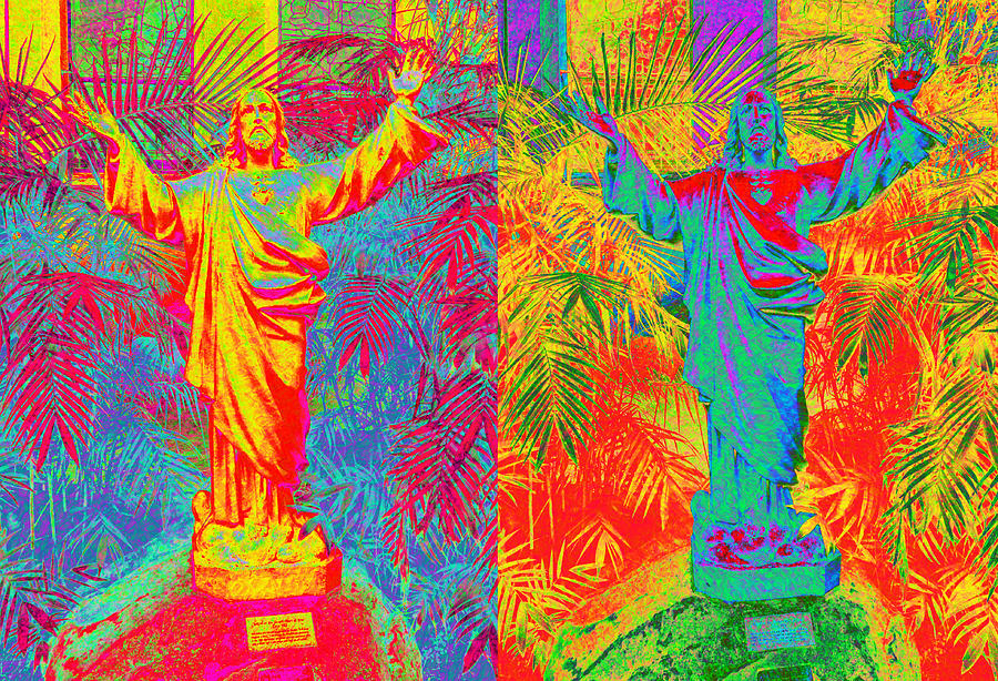 Jesus Digital Art - Double Jesus by Steve Fields