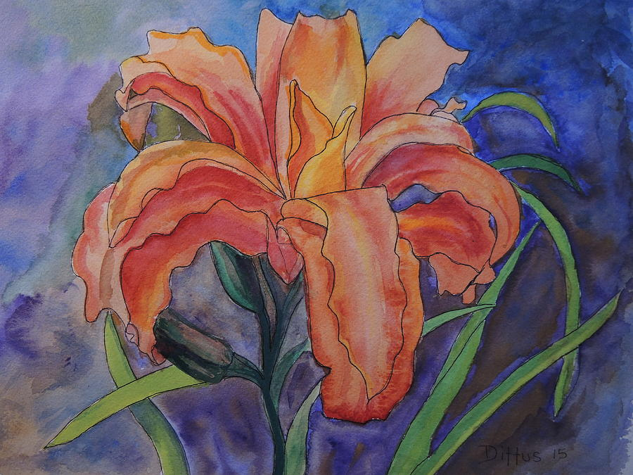 Double Lily by Chrissey Dittus