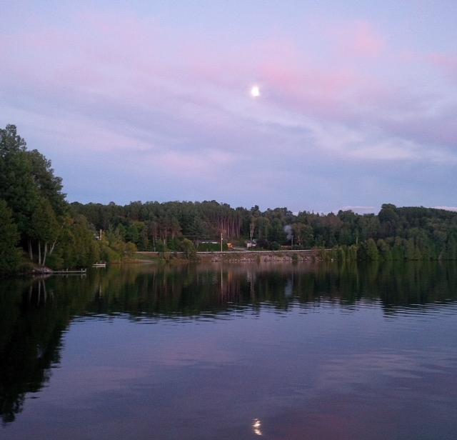 Lake Photograph - Double Moon At Dusk by Juli Kreutner