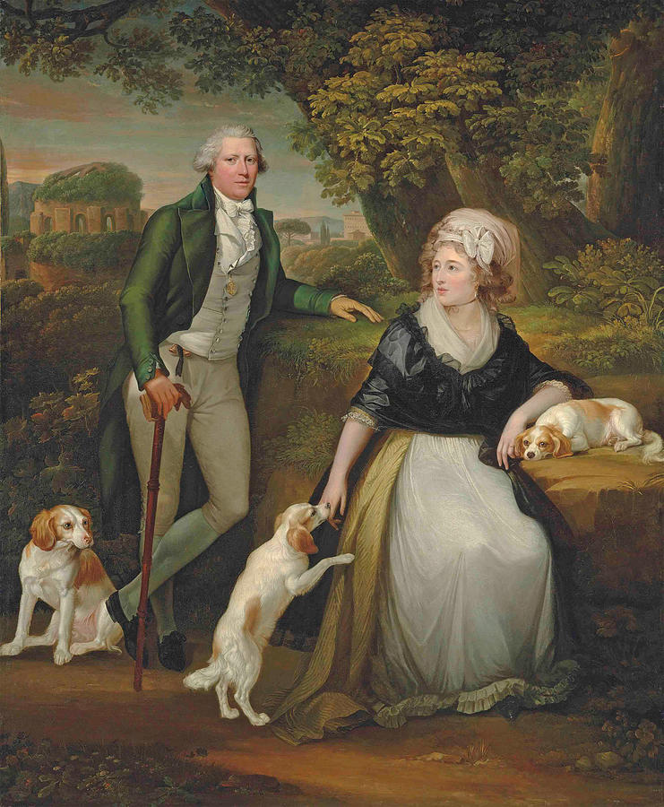 Double portrait of Sir Andrew Corbet Corbet and his wife Hestor ...