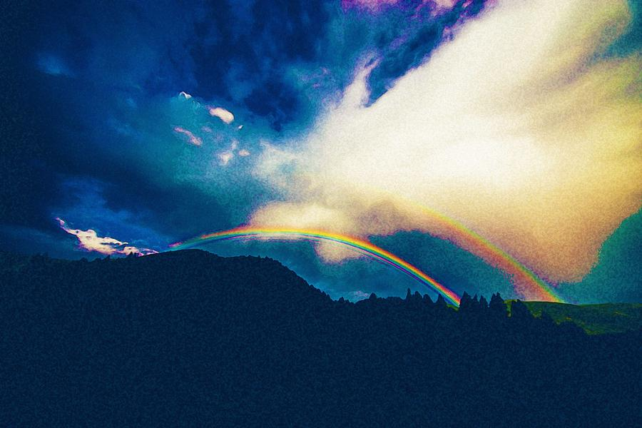 Nature Painting - Double Rainbow Over Provo, United States by Celestial Images