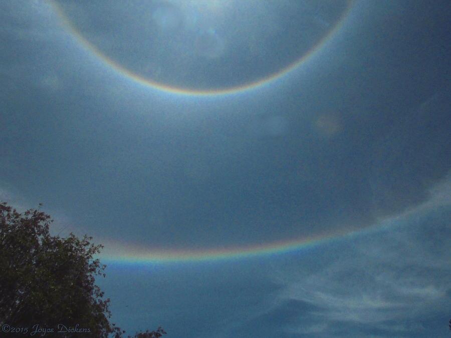 Double Rainbow Rings Around The Sun Photograph By Joyce