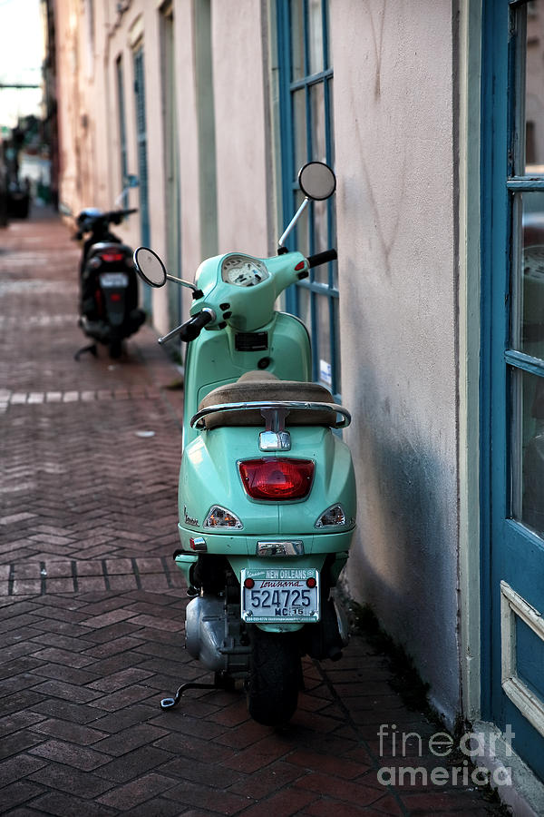 Double Scooters Photograph - Double Scooters by John Rizzuto