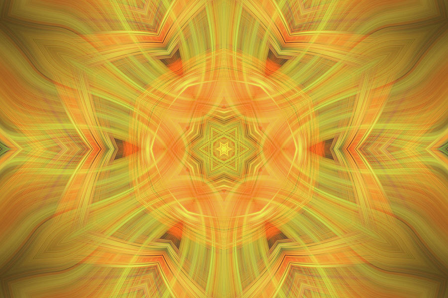 Abstract Photograph - Double Star Abstract by Linda Phelps