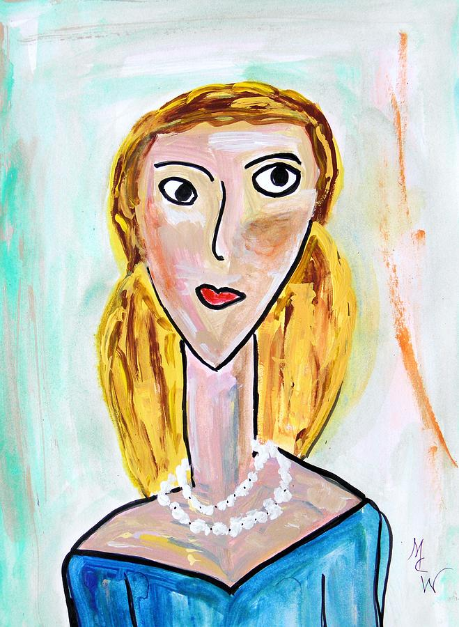 Blond Painting - Double Strand by Mary Carol Williams