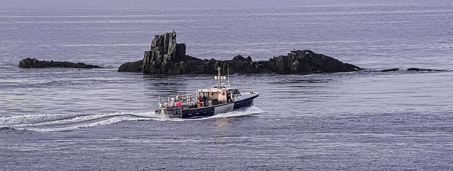 Sail Rock Photograph - Double Trouble 2 Heading Out by Marty Saccone