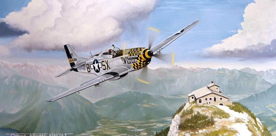 Military Painting - Double Trouble Over The Eagle by Marc Stewart