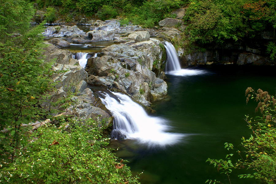 Waterfall Greeting Card - Double Twin 2 by Marty Koch