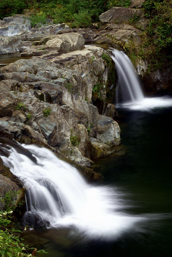 Waterfalls Photograph - Double Twin by Marty Koch