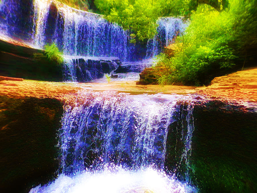 Waterfall Photograph - Double Waterfall by Bill Cannon
