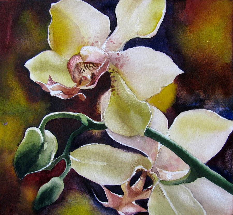 simple orchids paintings - 900×832