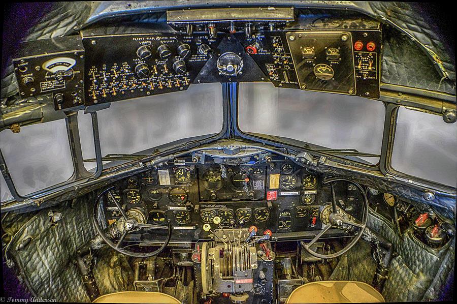 Douglas C 47 Skytrain Cockpit Photograph By Tommy Anderson